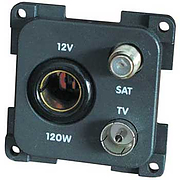 CBE 12V + TV + Satellite Socket