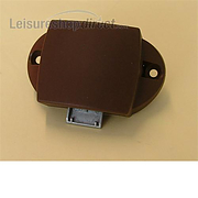 Rim lock for Touring Caravans (standard) for cupboard - Brown