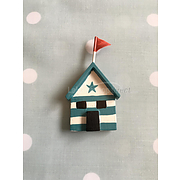 Shoeless Joe beach hut magnet (2)