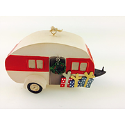 Shoeless Joe Tin caravan with wreath