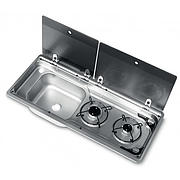 Smev MO9722LP Caravan Motorhome Sink and Hob Combination unit