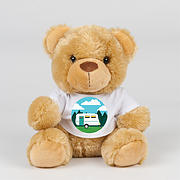Teddy bear in TShirt with Caravan Print