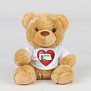 Valentines Soft Toy with Caravan T-shirt- Teddy or Lion