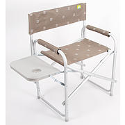 VIA MONDO ALUMINIUM DIRECTORS CHAIR WITH TABLE -  BROWN