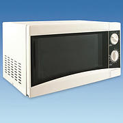 White Low Wattage Microwave Oven 17 Litre