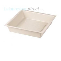 Shower Tray , Ivory, 584 x 584 x 127mm