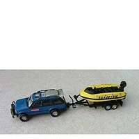 Toy Jeep with leisure vehicle