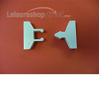 W4 Plastic door retainer