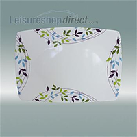 "Spring Leaf Melamine Serving Platter 14"" Rectangular"