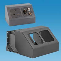 C-Line 2 Way Angled Socket - grey