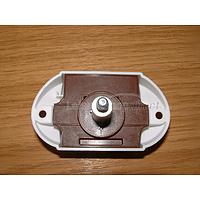 Push Button Rim Lock White 25mm