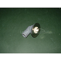 """Sink waste 3/4"""" angled, stainless flange"""