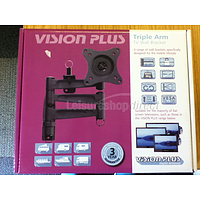 Vision Plus LCD TV Wall Bracket - Triple Arm, Black