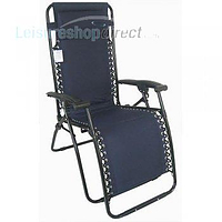 Liberty Padded Polyester Recliner Chair - Zero Gravity Navy