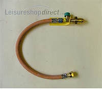 Truma drive safe regulator high pressure hose with rupture protection. Propane