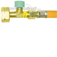 Truma drive safe regulator high pressure hose with rupture protection. Butane