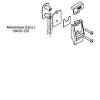 Leg Bracket Kit Aluminium for Fiamma Awnings