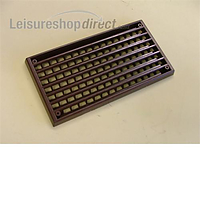 Interior Plastic Vent 170mm x 90mm - Brown