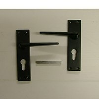 ELLBEE Eurolock static door handles - Silver (One size) WHILE STOCKS LAST