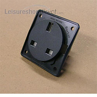 Berker 13A Socket - black