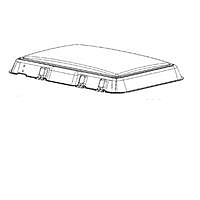 Dometic Midi Heki glazing panel (replacement dome)