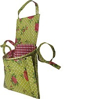 English Rose Garden Apron