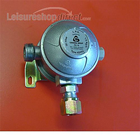 Cavagna 8mm Right Angle 30 mbar Gas Regulator for 8mm pipe