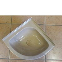 Corner bowl white 279mm x 279mm