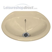 Small Inset Caravan Basin Sink complete with standard waste Ivory