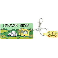 Caravan Keys Keyring by smiley signs