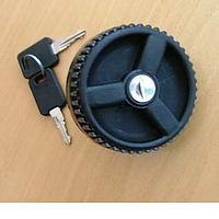 Water filler cap with two keys - black