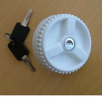 Water filler cap with 2 keys - white