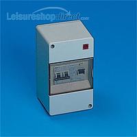 Consumer unit, 25amp RCD, 10amp MCB double pole