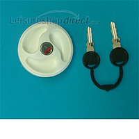 Water filler cap with 2 keys, white
