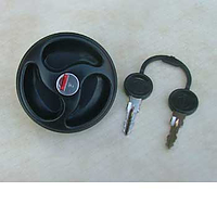 Water filler cap with 2 keys, black