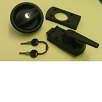 Vecam LH door lock - black without barrel and key