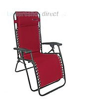 Liberty Padded Polyester Recliner Chair - Zero Gravity Burgundy