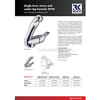 Reich Keramik Style Single Lever Mixer Taps + Spare Parts image 2