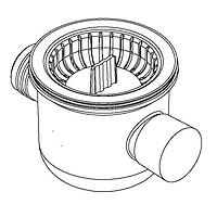 Dometic chrome plated waste fitting