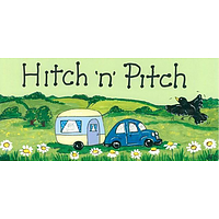 Hitch 'n' Pitch Caravan Smiley Sign
