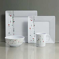 16pcs - Linea Design Melamine Crockery Set - REIMO Modena