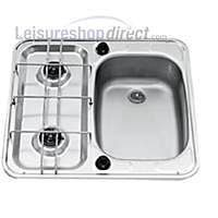 SMEV MO927 2-Burner Caravan Hob/Sink Combination Right Hand
