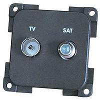 CBE TV socket + Satellite, light grey