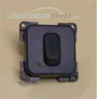 CBE Single Unipolar + LED Switch Grey