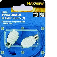Maxview TV/FM Coxial Plastic Plugs - Blister Pack of 2