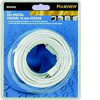 Maxview 10M Digital Coaxial 75 ohm Flylead -Silver