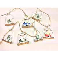 Shoeless Joe Caravan & Xmas tree garland