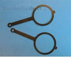 Aquaroll cap strap (pair)