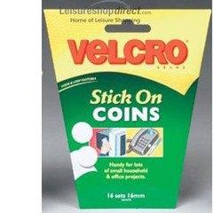 Velcro Velcoins Self Adhesive Discs- white