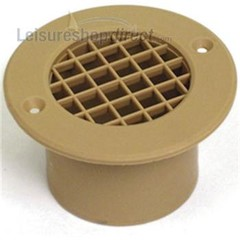 Round Floor Vent and Long Tail 75mm